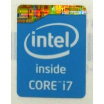 Adesivo Original Intel Core I7 4º Geração (azul) P/ Notebook