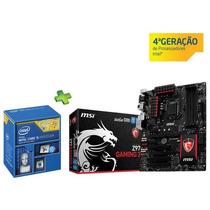 Kit Placa Mãe Msi Z97-gaming 3 +i5-4690 3.50ghz +8gb Ddr3