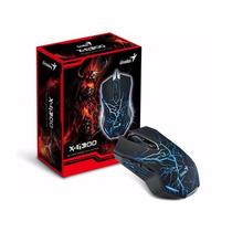 Mouse Genius X-g300 Gamer 6 Botões E 2000dpi + Brinde