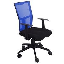 Cadeira Xtech Praga Preto/azul C/ Ajuste De Altura