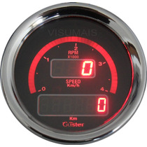 Conta Giros 4000rpm Diesel E Velocimetro Digital 85mm Guster