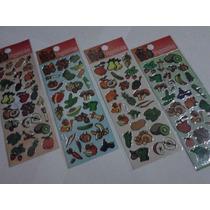 Vegetais - Kit Com 12 Cartelas De Adesivos Stickers
