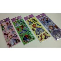Sofia - Kit Com 12 Cartelas De Adesivos Stickers