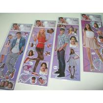 Violetta - Kit Cartela Adesivo Stickers C/ 12 Cartelas