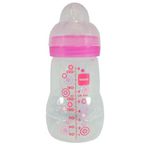 Mamadeira Mam Fashion Bottle Rosa Anti Cólica - 220 Ml