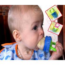 Alimentador Infantil C/ Capa Seguro P/ Bebês Frutas Redinha