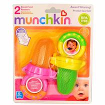 2 Alimentadores Bebê Rede Munchkin Papinha Chupeta Mamadeira