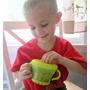 Pote Porta Biscoito Abas Flexíveis. Verde/amarelo Bebê Neném