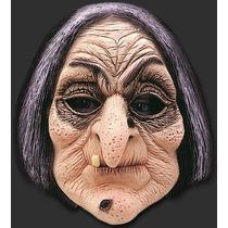 Mascara Da Bruxa Velha - Muito Engraçada - Inteira De Látex