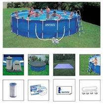 Piscina Intex 24311 Litros Completa Bomba Filtro Capa Escada