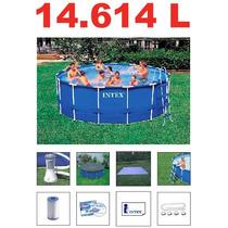Piscina Intex 14614 Lts Estrutural Bomba Filtro Escada Capa