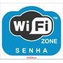 Adesivo Wi Fi Wifi Wi-fi Wireless Loja Comercio Shopping