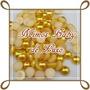 Meia Perola Dourada E Branca 2mm 600 Unidades De Cada Cor