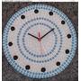Relógio Em Mosaico 30 Cm Diâmetro