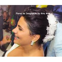 Flores Tecido (3un) Noiva Debutante Madrinha Dama Strass