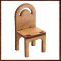 Miniaturas Em Mdf Mini Móveis- Cadeira Simples Pequena.