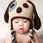 Touca Croche Cachorrinho - Newborn Fotografia Gorro Bebe