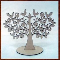 Árvore Mdf Provençal Enfeite Decorativo De Mesa 40cm