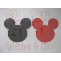 Cabeça Mickey/ Minnie Scrapbook Eva - E.v.a. Cores Sortidas