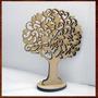 Árvore Mdf Provençal Enfeite Decorativo De Mesa 20cm