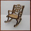 Miniaturas Em Mdf Mini Móveis- Cadeira De Balanço Pequena