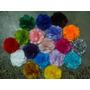 10 Un Flores Tecidos , Tiaras E Acessórios, 4cm