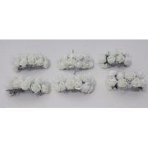 6 Pecas Mini Buque De Rosas Diversas Cores - Flor Artificial