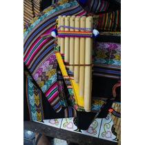 Zamponha Flauta De Bambu + Capa Original De Tecido