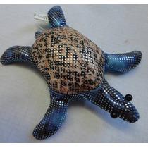 Tartaruga Em Tecido Com Enchimento De Areia - A23