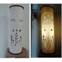 Luminária Em Pvc, Abajur Em Pvc Elefante Indiano 30 X 10cm