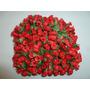 144 Botões De Rosas Artificiais Vermelhas 9cm - Só R$ 16,20