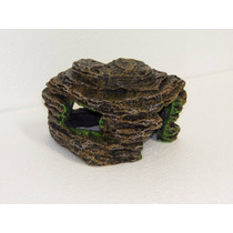 Enfeite Gruta De Pedras Grande Ornamento Aquários Terrários