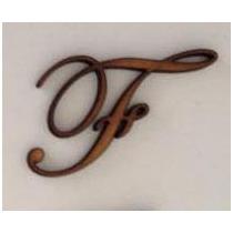 Letra Em Mdf Fonte Eduardian Script 5cm De Altura