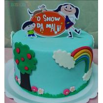 Display Enfeite Topo Bolo Personalizados Festa Show Da Luna
