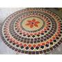 Tampo De Mesa Em Mosaico 60 Cm De Diamêtro