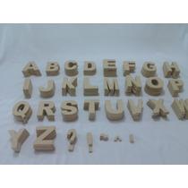 Kit Alfabeto Completo 26 Letras 12cm Mdf Cru Decorativas