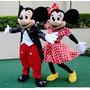 Fantasia Mascote Mickey Minnie Em Fibra