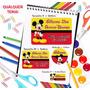 72 Etiquetas Escolares Personalizadas - Mickey