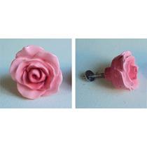 Puxador Botão De Rosa Grande Colorido- Resina Resinas