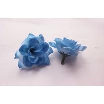 Lote Flores Azuis Em Tecido 100 Pçs/lote Pronta Entrega