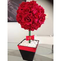 Centro De Mesa Rosas Vermelhas, Arranjo, Formatura,casamento