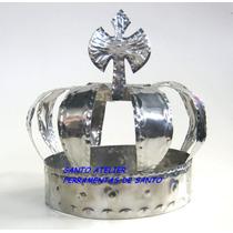 Coroa De Xangô Airá Orixás Em Aço Inox 009