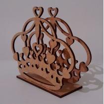 Porta Guardanapo Coroa Princesa Mdf Festas