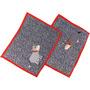 Jogo Americano De Patch Aplique Quiltado Vaquinhas A180