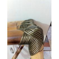 Fibra (junco) Sintética Ouro Para Artesanato Em Bambu