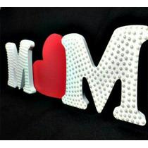 Trio Letras Mdf - 2 Letras Perolizadas + Coração V/p