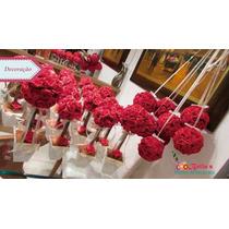 Topiaria Em Eva - Arranjo De Mesas De Rosas