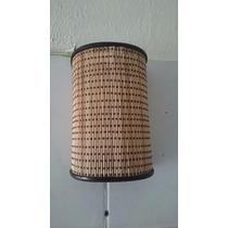 Arandela De Parede Revestida Em Bambu P/