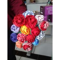 Rosas De Tecido Varias Cores Flor