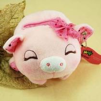 Porquinho De Pelucia Rosa Pink Porta Treco Presente Natal